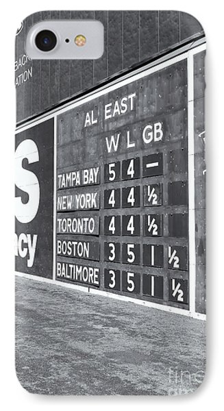 Fenway Park Green Monster Scoreboard II IPhone Case by Clarence Holmes