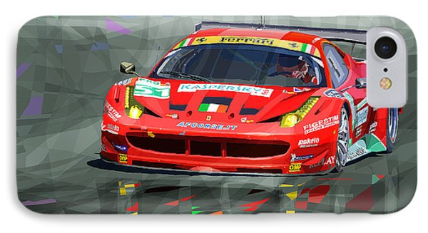 Ferrari 458 Gtc Af Corse IPhone Case by Yuriy  Shevchuk