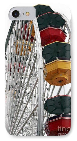 Ferris Wheel Colors IPhone Case by John Rizzuto