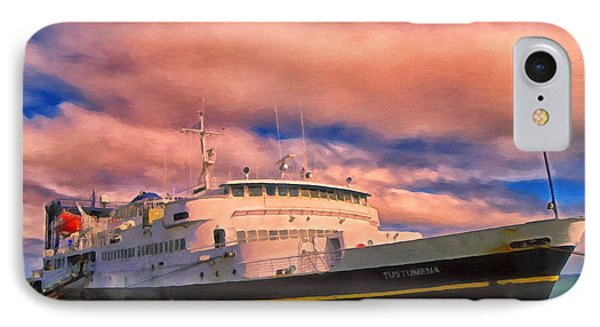 Ferry Dockside At Cold Bay Phone Case by Michael Pickett