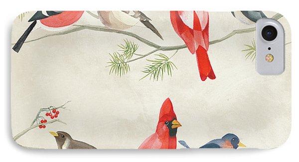 Festive Birds I IPhone Case by Danhui Nai