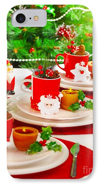 Festive Table Setting Phone Case by Anna Om