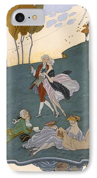 Fetes Galantes IPhone Case by Georges Barbier