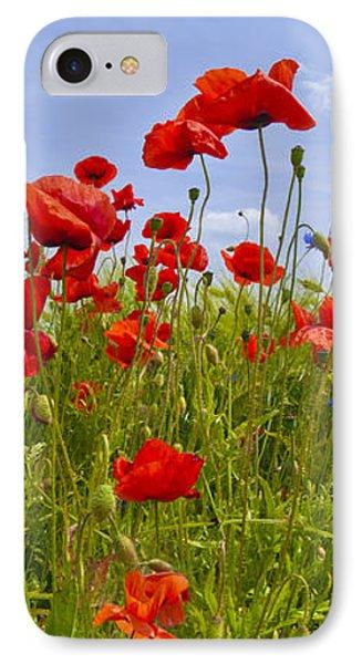 Field Of Red Poppies Phone Case by Melanie Viola