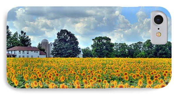 Field Of Sunflowers Phone Case by Kathleen Struckle