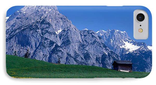 Field Of Wildflowers With Majestic IPhone Case by Panoramic Images