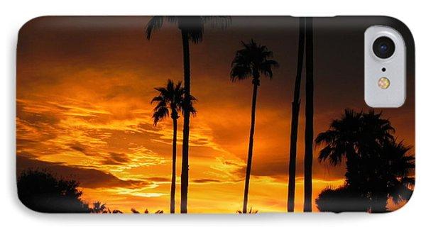 Fiery Sunset Phone Case by Deb Halloran