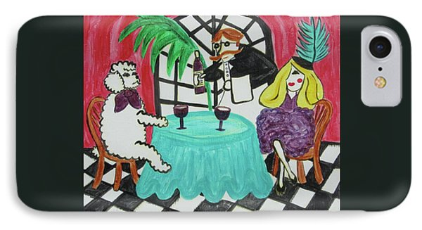Fifi's Night Out Phone Case by Diane Pape