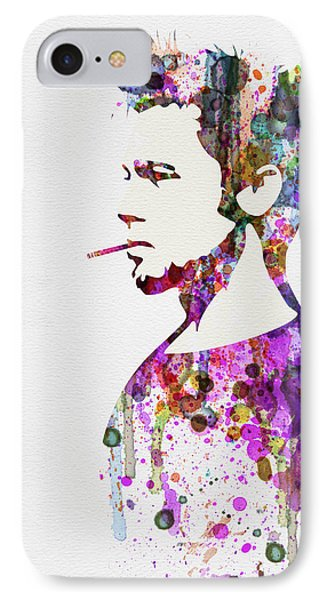 Fight Club Watercolor IPhone Case by Naxart Studio