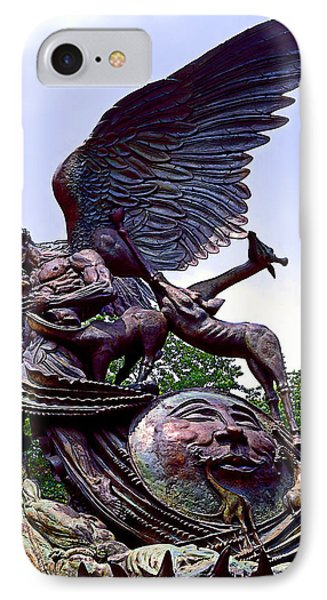 Fighting Angel IPhone Case by Terry Reynoldson