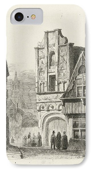 Figures At A Renaissance Facade, Lambertus Hardenberg IPhone Case by Lambertus Hardenberg