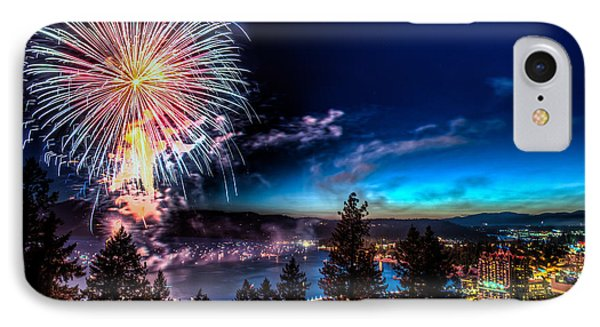 Final Blast Over Coeur D' Alene Lake IPhone Case by Derek Haller