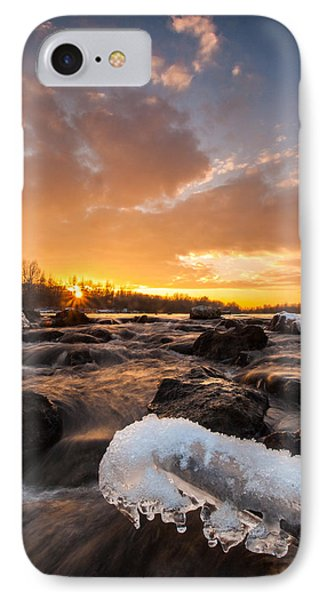 Fire And Ice Phone Case by Davorin Mance