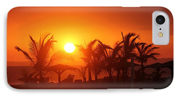 Fire Ball Sunset Phone Case by Bob Hislop