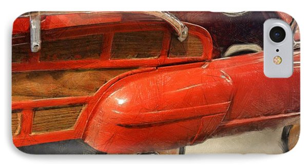 Fire Engine Pedal Car Phone Case by Michelle Calkins