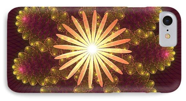 Fire Flower Mandala Phone Case by Svetlana Nikolova