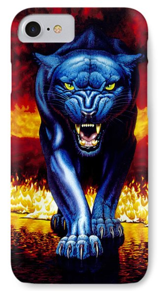 Fire Panther IPhone Case by MGL Studio - Chris Hiett
