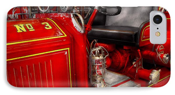 Fireman - Fire Engine No 3 Phone Case by Mike Savad