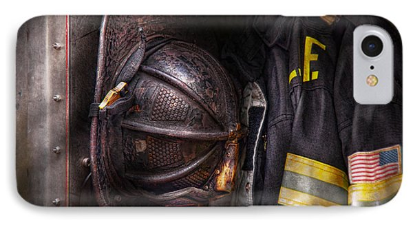 Fireman - Worn And Used IPhone Case by Mike Savad