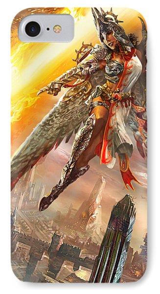 Firemane Avenger Promo IPhone Case by Ryan Barger