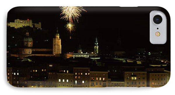 Firework Display Over A Fort IPhone Case by Panoramic Images