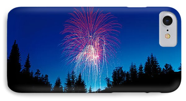 Fireworks, Canada Day, Banff National IPhone Case by Panoramic Images