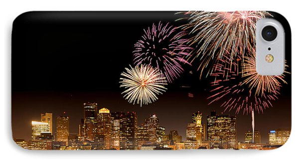 Fireworks Over Boston Harbor Phone Case by Susan Cole Kelly
