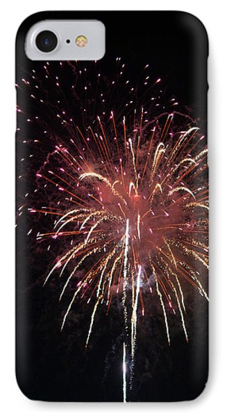 Fireworks Series Xiv IPhone Case by Suzanne Gaff