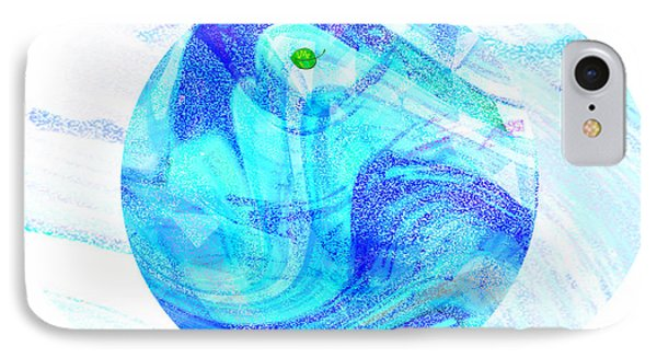 Firmament Cracked #7 - Beautiful Illusion Phone Case by Mathilde Vhargon
