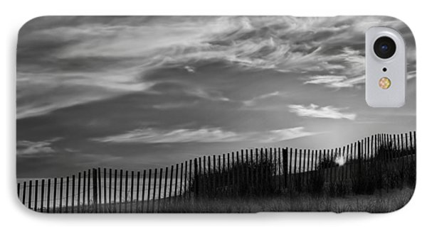 First Light At Cape Cod Beach Bw IPhone Case by Susan Candelario