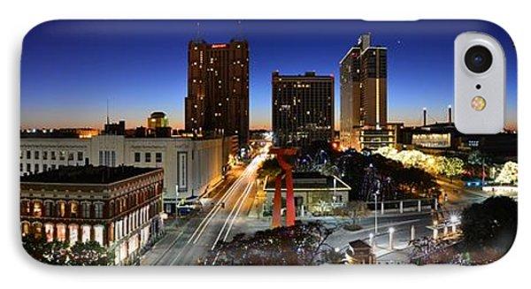 First Light On San Antonio Skyline - Texas IPhone Case by Silvio Ligutti