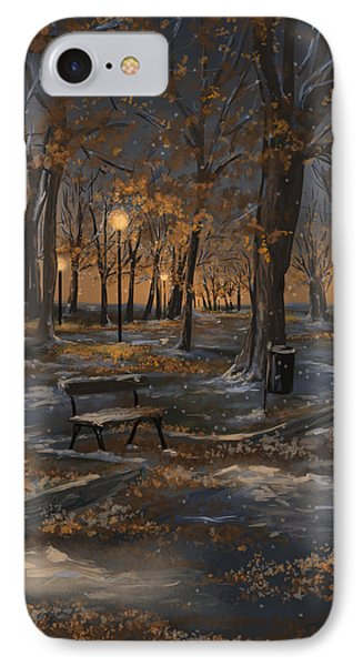 First Snowfall IPhone Case by Veronica Minozzi