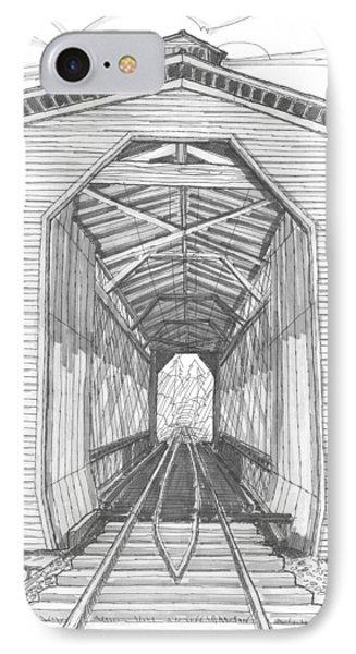Fisher Railroad Covered Bridge Phone Case by Richard Wambach