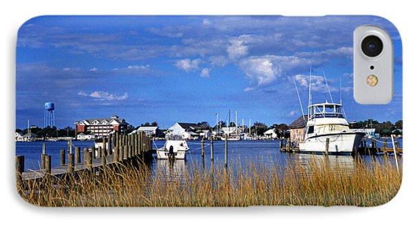 Fishing Boats At Dock Ocracoke Island IPhone Case by Thomas R Fletcher