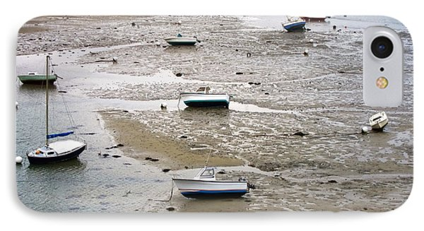 Fishing Boats At Low Tide Phone Case by Olivier Le Queinec