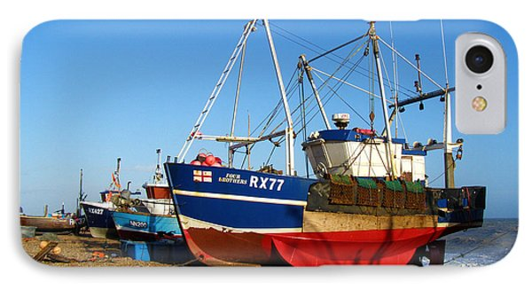 Fishing Boats On Hastings Stade Phone Case by Terri Waters