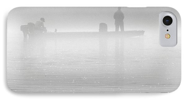 Fishing In The Fog Phone Case by Mike McGlothlen