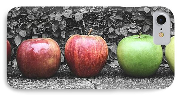 Five Apples  IPhone Case by Steven  Taylor