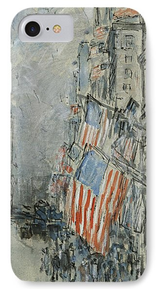 Flag Day. Fifth Avenue. July 4th 1916 IPhone Case by Childe Hassam