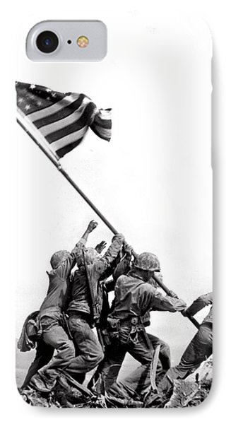 Flag Raising At Iwo Jima IPhone Case by Underwood Archives