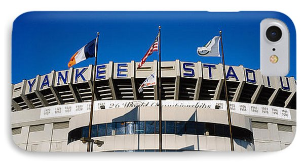 Flags In Front Of A Stadium, Yankee IPhone 7 Case by Panoramic Images