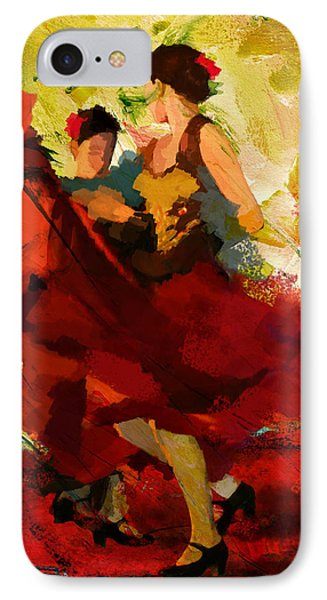 Flamenco Dancer 019 IPhone Case by Catf