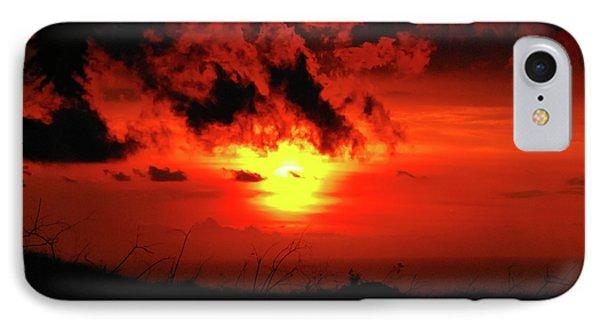 Flaming Sunset Phone Case by Christi Kraft