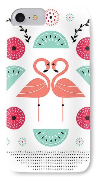 Flamingo Flutter IPhone 7 Case by Susan Claire