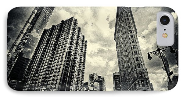 Flat Iron Building New York City IPhone Case by Sabine Jacobs