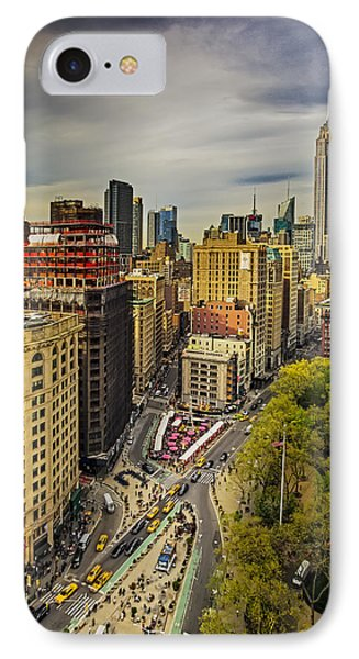 Flatiron District And The Empire State Building IPhone Case by Susan Candelario
