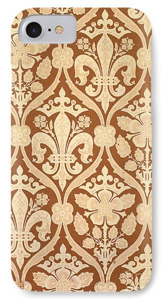 Fleur-de-lis Phone Case by Augustus Welby Pugin