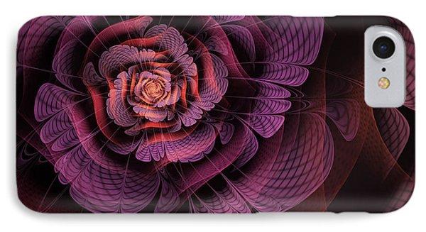 Fleur Pourpre IPhone Case by John Edwards