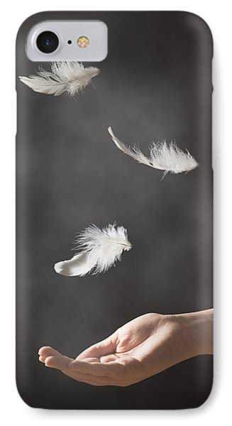 Floating Feathers Phone Case by Amanda Elwell