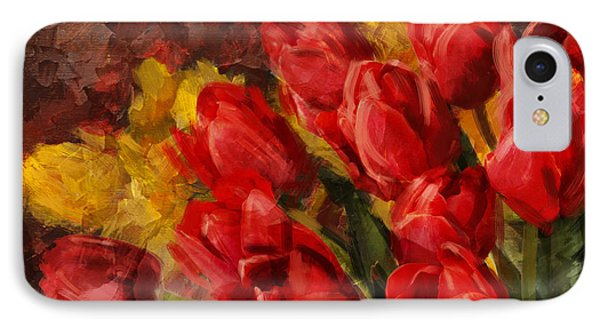 Floral 12b IPhone Case by Mahnoor Shah